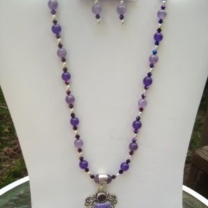 Necklace Set- Russian Amethyst, Silver